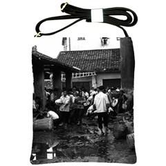 Vintage China changsha market 1970 Cross Shoulder Sling Bag