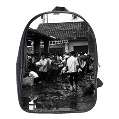 Vintage China changsha market 1970 School Bag (XL)