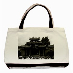Vintage China Canton taoist ancestral temple 1970 Twin-sided Black Tote Bag