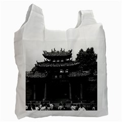 Vintage China Canton taoist ancestral temple 1970 Twin-sided Reusable Shopping Bag
