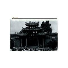 Vintage China Canton taoist ancestral temple 1970 Medium Makeup Purse