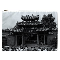 Vintage China Canton taoist ancestral temple 1970 Cosmetic Bag (XXL)