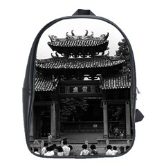 Vintage China Canton Taoist Ancestral Temple 1970 School Bag (xl)