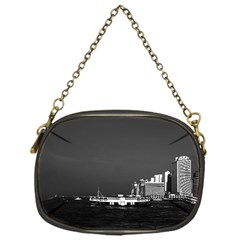Vintage China Hong Kong Boat Skyscraper ??sea 1970 Single Sided Evening Purse
