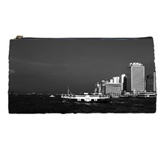 Vintage China Hong Kong Boat Skyscraper ??sea 1970 Pencil Case