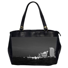 Vintage China Hong Kong boat skyscraper ??sea 1970 Twin-sided Oversized Handbag