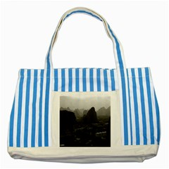 Vintage China Guilin City 1970 Blue Striped Tote Bag