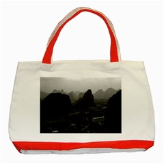 Vintage China Guilin city 1970 Red Tote Bag