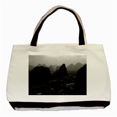 Vintage China Guilin city 1970 Twin-sided Black Tote Bag