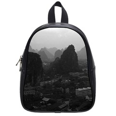 Vintage China Guilin city 1970 Small School Backpack