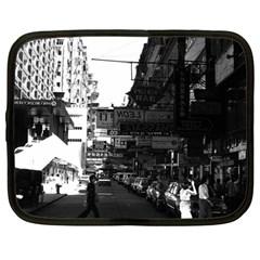 Vintage China Hong Kong street City cars 1970 12  Netbook Case
