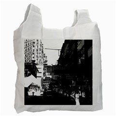 Vintage China Hong Kong street City cars 1970 Twin-sided Reusable Shopping Bag