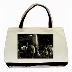 Vintage China Changsha Market 1970 Black Tote Bag