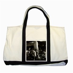 Vintage China changsha market 1970 Two Toned Tote Bag