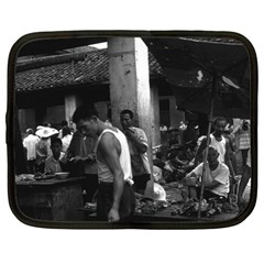 Vintage China changsha market 1970 12  Netbook Case