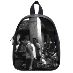 Vintage China changsha market 1970 Small School Backpack