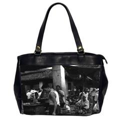 Vintage China Changsha Market 1970 Twin Sided Oversized Handbag