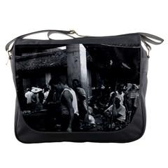 Vintage China changsha market 1970 Messenger Bag