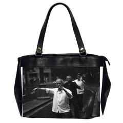 Vintage China Shanghai Morning Gymnastic 1970 Twin Sided Oversized Handbag