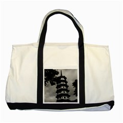 Vintage China Canton The Flowery Pagoda 1970 Two Toned Tote Bag