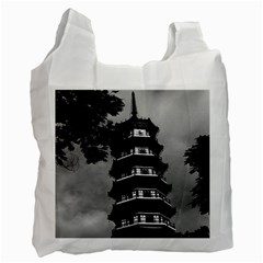 Vintage China Canton the flowery pagoda 1970 Twin-sided Reusable Shopping Bag