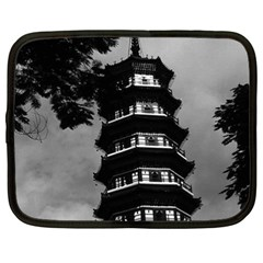 Vintage China Canton The Flowery Pagoda 1970 15  Netbook Case