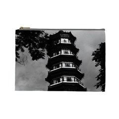 Vintage China Canton the flowery pagoda 1970 Large Makeup Purse