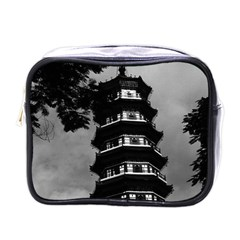 Vintage China Canton the flowery pagoda 1970 Single-sided Cosmetic Case