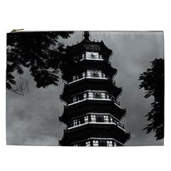 Vintage China Canton The Flowery Pagoda 1970 Cosmetic Bag (xxl)