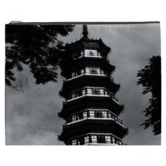Vintage China Canton the flowery pagoda 1970 Cosmetic Bag (XXXL)
