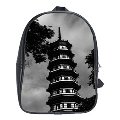 Vintage China Canton the flowery pagoda 1970 School Bag (XL)