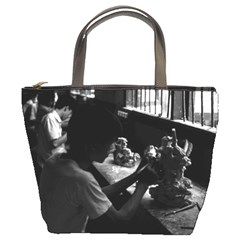 Vintage China Guilin stone sculpture workshop 1970 Bucket Handbag
