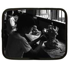 Vintage China Guilin Stone Sculpture Workshop 1970 15  Netbook Case