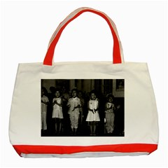 Vintage China Changsha childcare 1970 Red Tote Bag