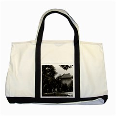 Vintage China Canton Martyrs Parc 1970 Two Toned Tote Bag