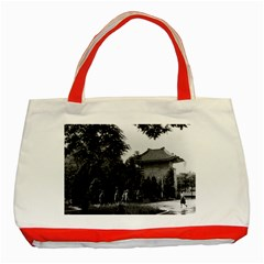 Vintage China Canton martyrs parc 1970 Red Tote Bag