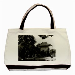 Vintage China Canton martyrs parc 1970 Twin-sided Black Tote Bag