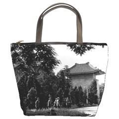 Vintage China Canton martyrs parc 1970 Bucket Handbag