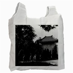 Vintage China Canton martyrs parc 1970 Twin-sided Reusable Shopping Bag