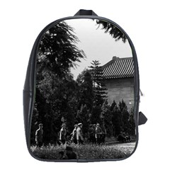 Vintage China Canton martyrs parc 1970 Large School Backpack
