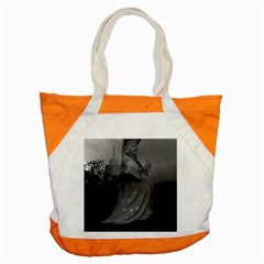Vintage China Hong Kong Repulse Bay Kwun Yam Statue Snap Tote Bag