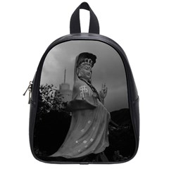 Vintage China Hong Kong Repulse Bay Kwun Yam Statue Small School Backpack