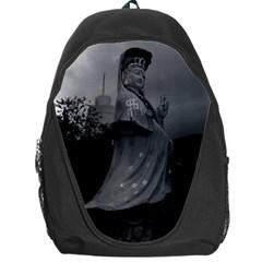 Vintage China Hong Kong Repulse Bay Kwun Yam Statue Backpack Bag