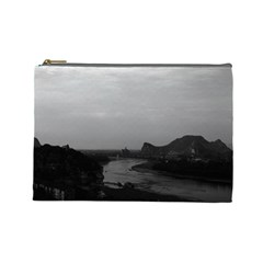 Vintage China Guilin Lijiang River 1970 Large Makeup Purse