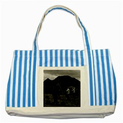 Vintage China Guilin watering with liquid manure 1970 Blue Striped Tote Bag
