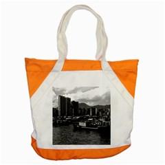 Vintage China Hong Kong Houseboats River 1970 Snap Tote Bag