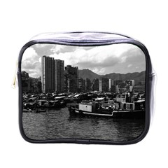 Vintage China Hong Kong houseboats river 1970 Single-sided Cosmetic Case