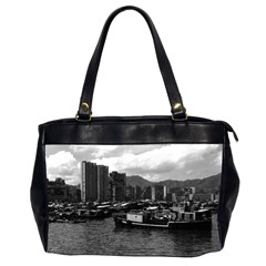 Vintage China Hong Kong houseboats river 1970 Twin-sided Oversized Handbag