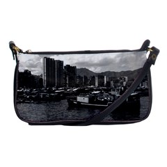 Vintage China Hong Kong houseboats river 1970 Evening Bag