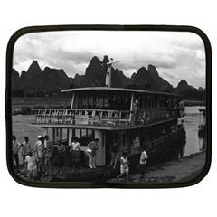 Vintage China Guilin River Boat 1970 12  Netbook Case